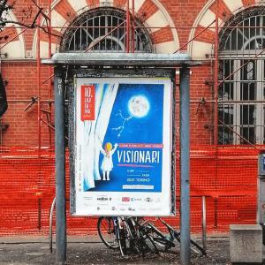 Corso Raffaello, Torino. Cartellone ERTHINK FESTIVAL 2021 #VISIONARI