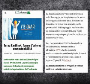 #earthinkfestival #tekhne #visionari #eventitorino #settembretorino #festival2021 #ethf21 #serenabavo #ottibavoart ESCAPE='HTML'